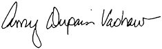 Signature of Amy Dupain Vashaw