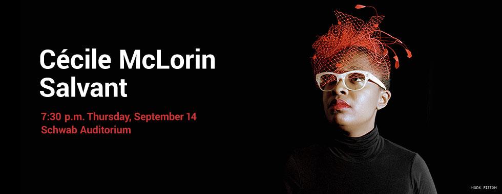 Cécile McLorin Salvant 7:30 p.m. Thursday, September 14 in Schwab Auditorium
