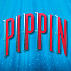 "A logo for ""Pippin"" features the word illuminated by glitter and streams of light."