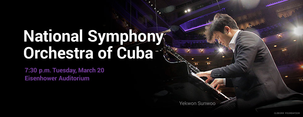 National Symphony Orchestra of Cuba 7:30 p.m. Tuesday, March 20 at Eisenhower Auditorium