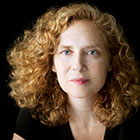 Julia Wolfe looks at the camera.